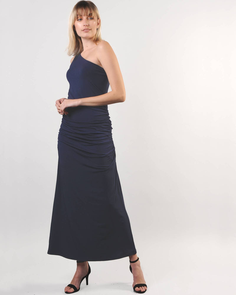 One Shoulder G-Maxi - Navy