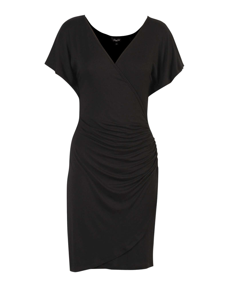 Ruffle Sleeve Sophia Dress - Black