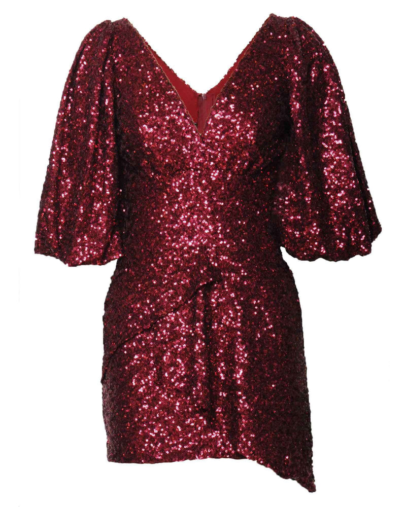 Christel Cocktail Dress - Wine