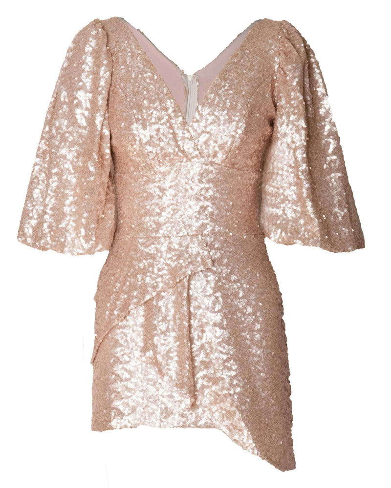 Christel Cocktail Dress - Gold