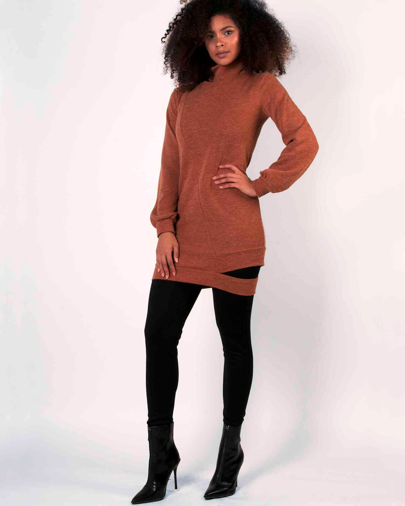 Desire Tunic Top - Rust