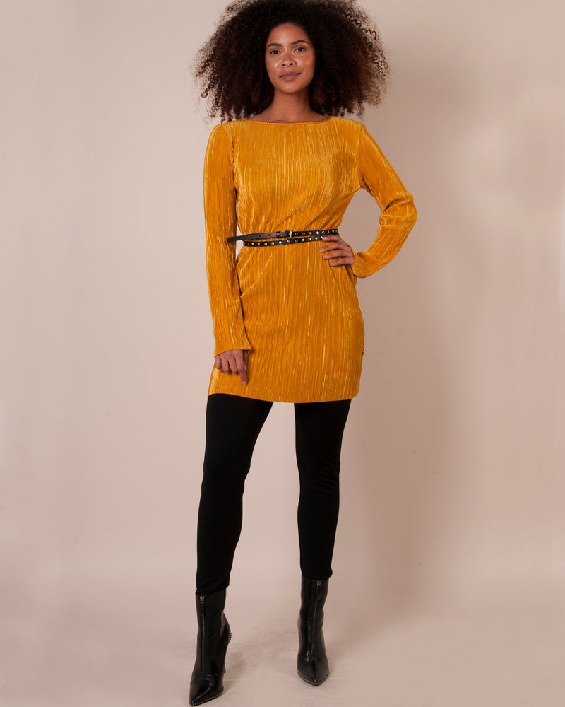 Boxy Tunic Top - Dijon