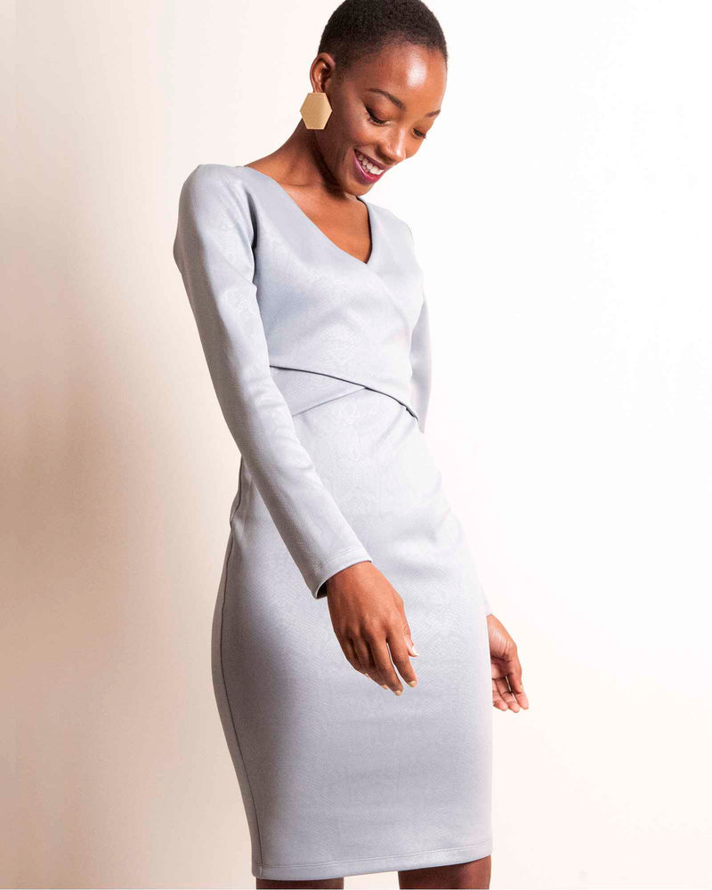 Bodycon Hug Dress - Grey