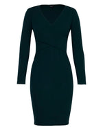 Bodycon Hug Dress - Fir