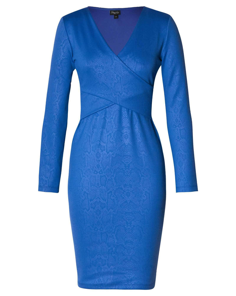 Bodycon Hug Dress - Cobalt