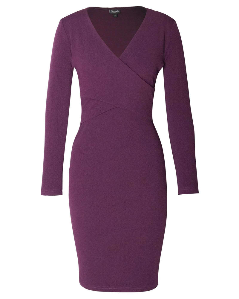 Bodycon Hug Dress - Prune