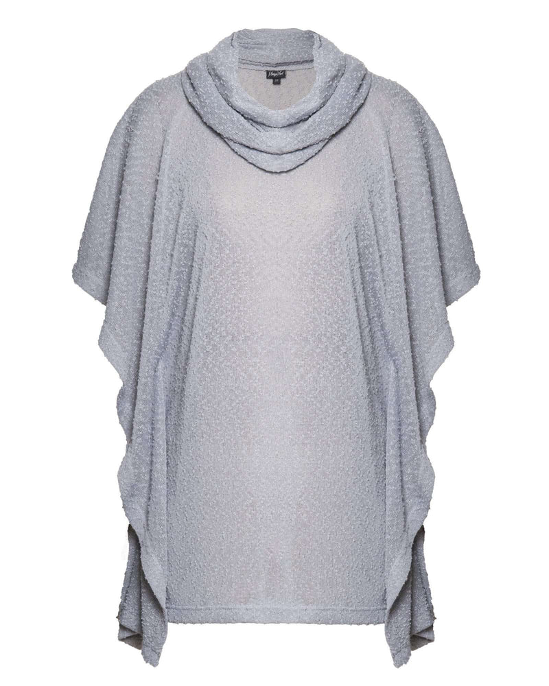 Square Poncho & Snood 2 Piece - Dove