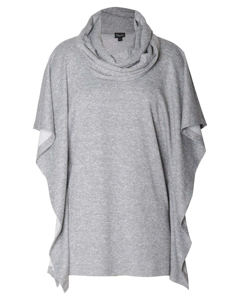 Square Poncho & Snood 2 Piece - Grey