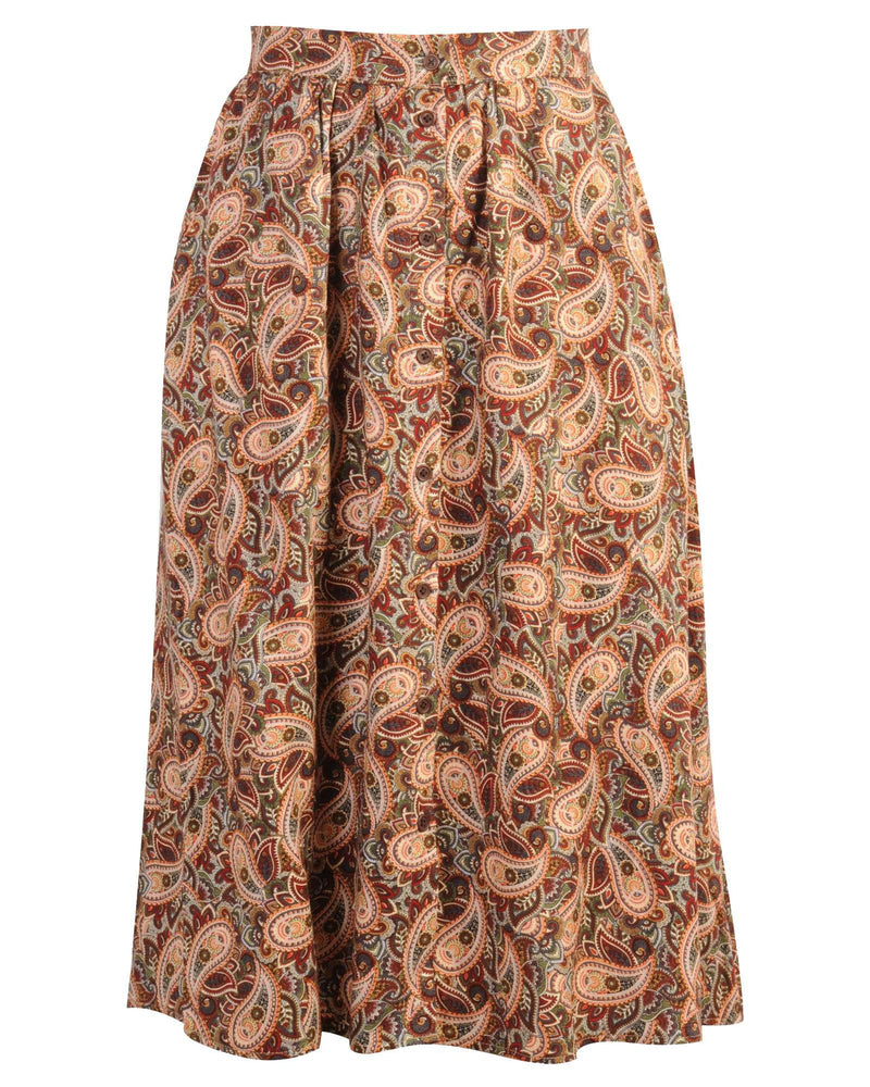 Button Down Skirt - Printed