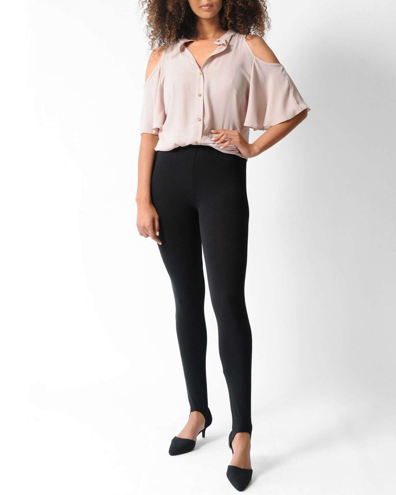 Fuseau High-Waist Leggings - Black
