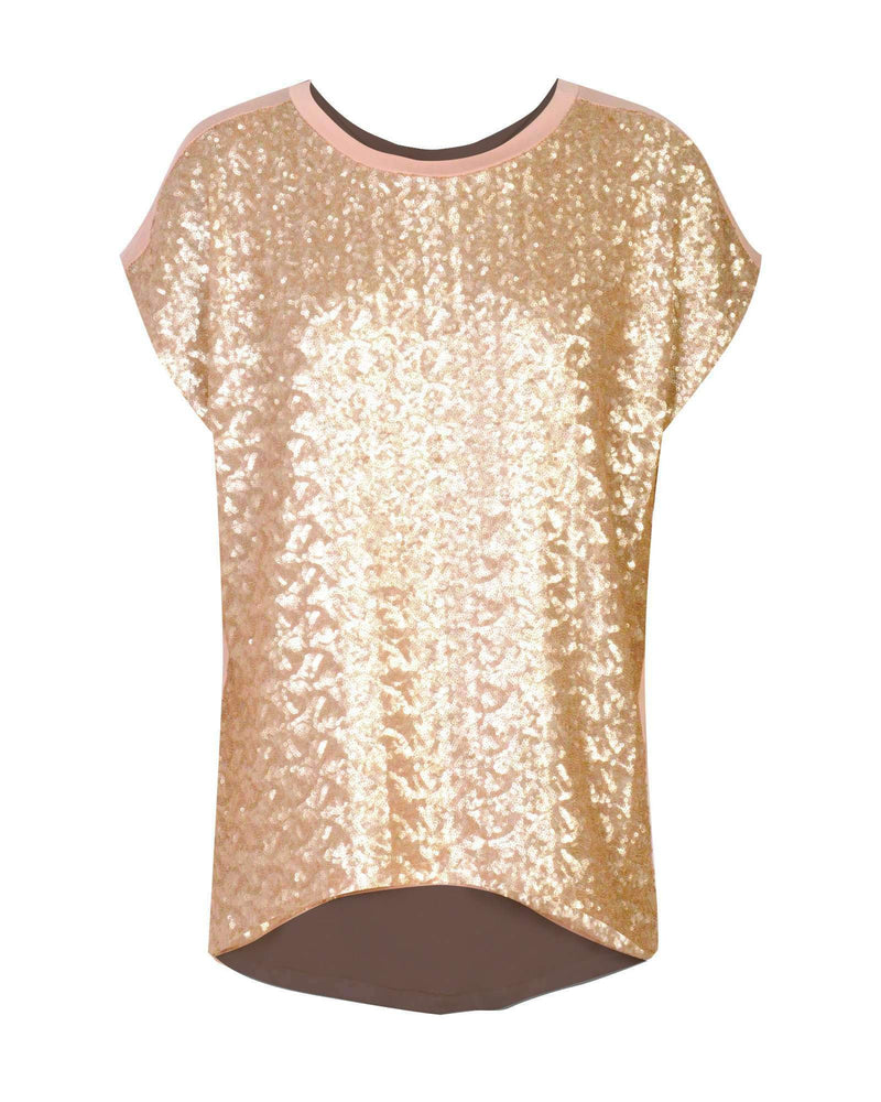 Combo Boxy Top - Gold Sequin