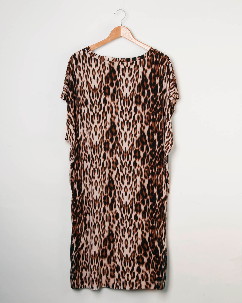 Factory Store | Batwing Knit Tunic - Animal Print