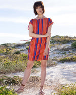Boatneck Tunic - Rust Stripe