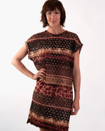 Batwing Knit Tunic 2 Piece - Spliced Animal