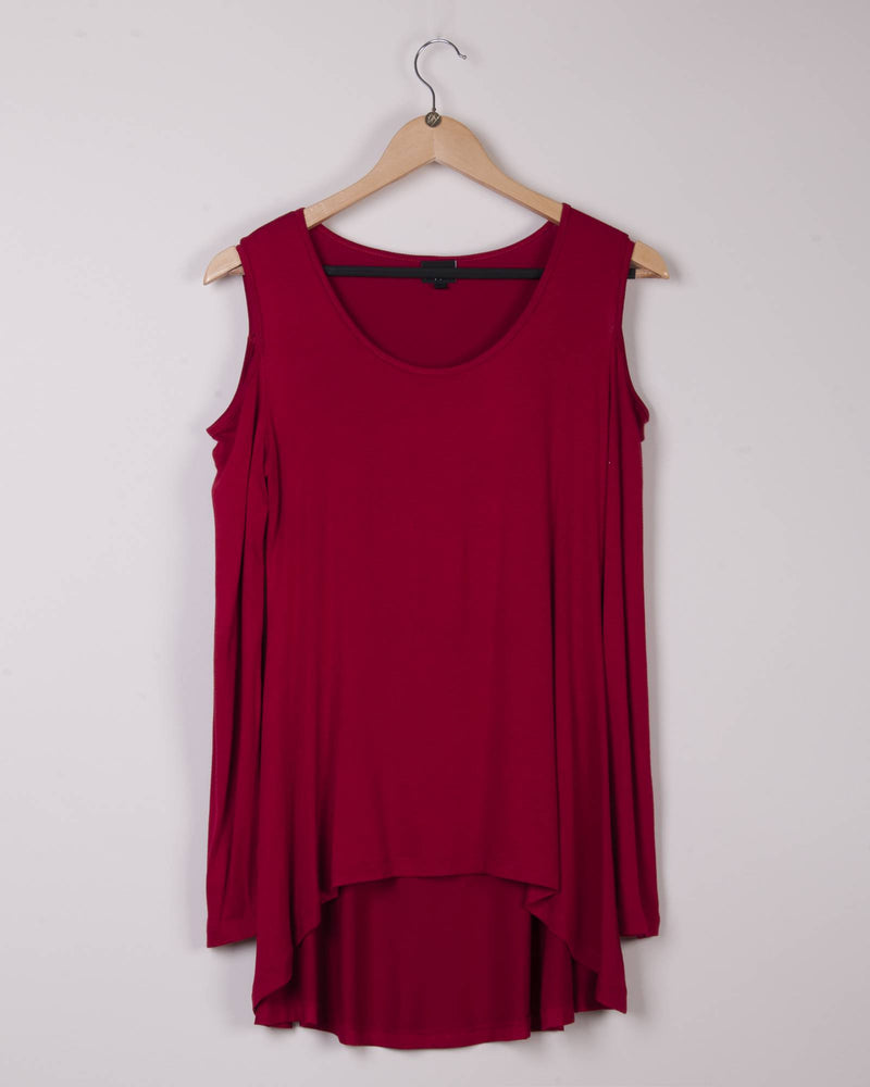 Factory Store | Cold Shoulder Top - Red
