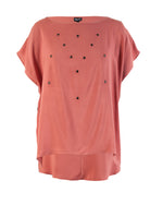 Factory Store | Embelished Boxy Top - Clay