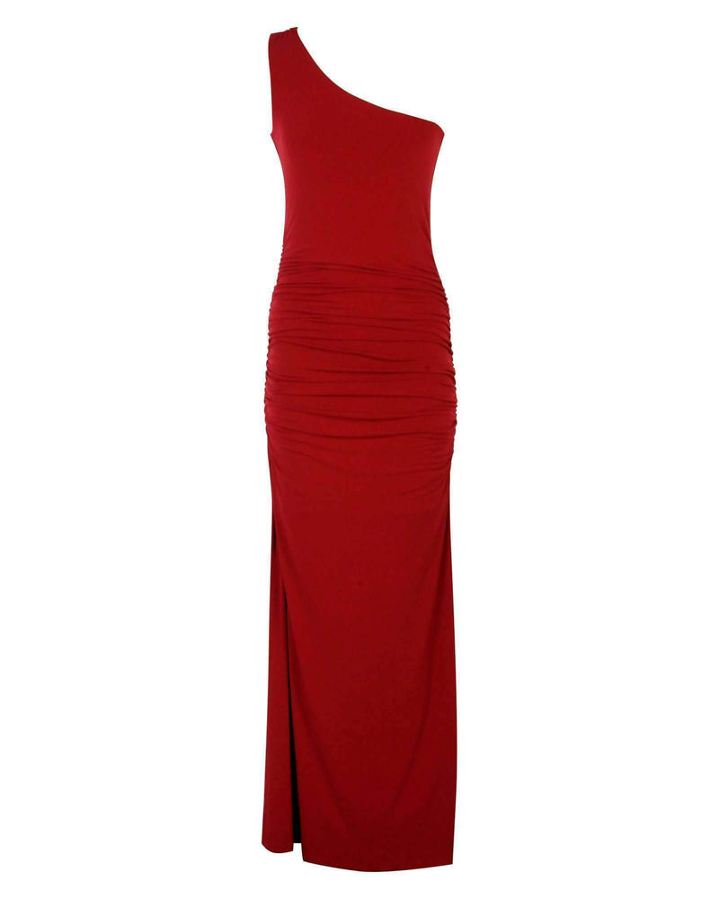 One Shoulder G-Maxi - Burgundy