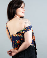 Dolce Top - Floral Navy