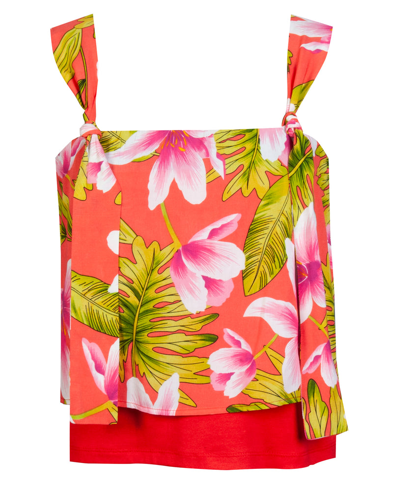 Dolce Top - Floral Coral