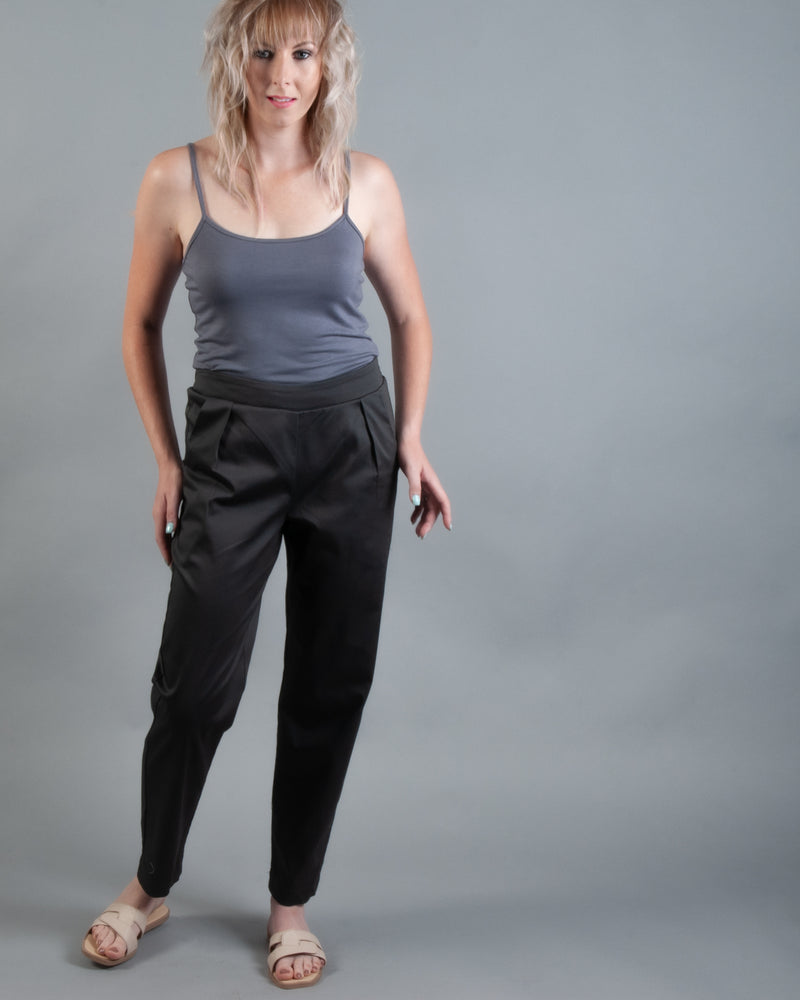Flat Front Jogger - Charcoal