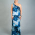 One Shoulder G-Maxi - Tower Blues