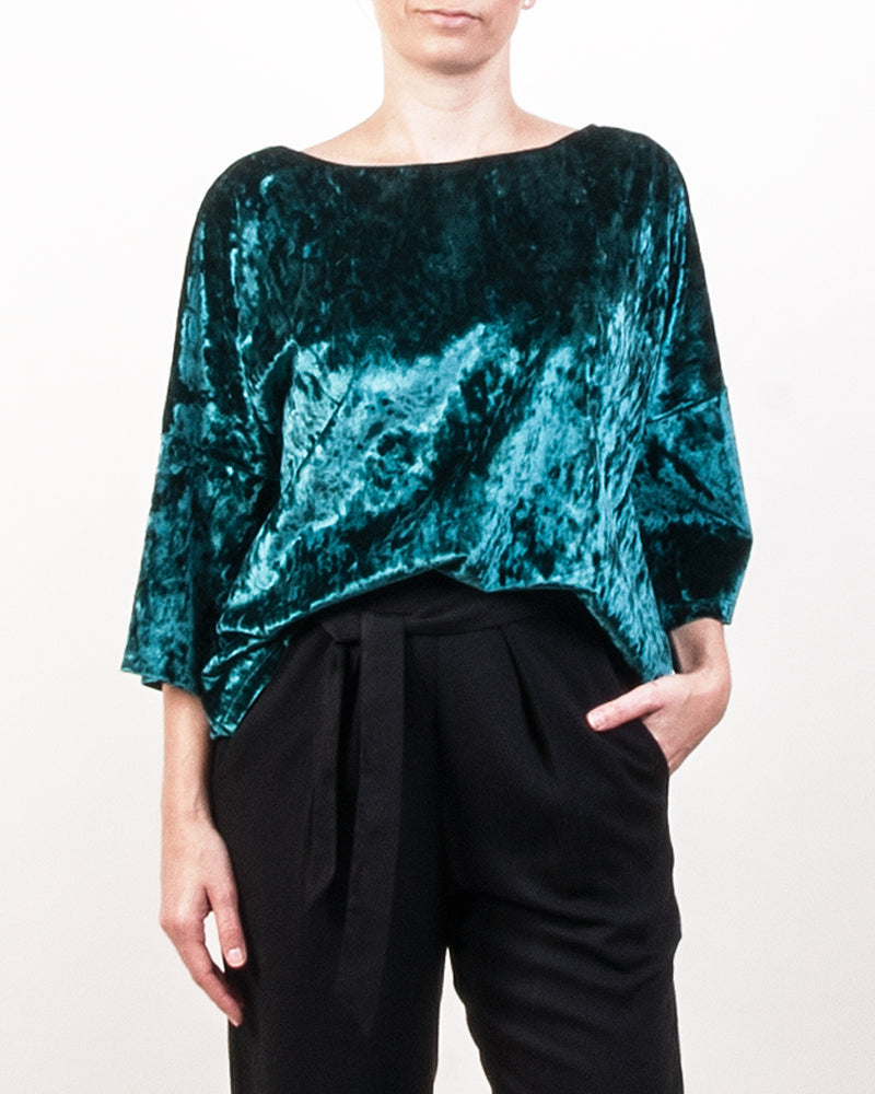Micha Dolman Top - Green Velvet