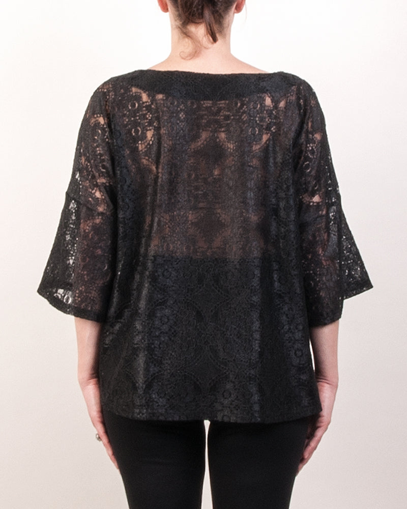 Micha Dolman Top - Black Lace