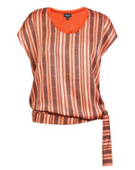 Tie Bubble Top - Rust Chevron
