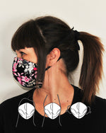Contour Fabric Face Mask - Dark Floral