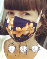 Contour Fabric Face Mask - Navy Floral
