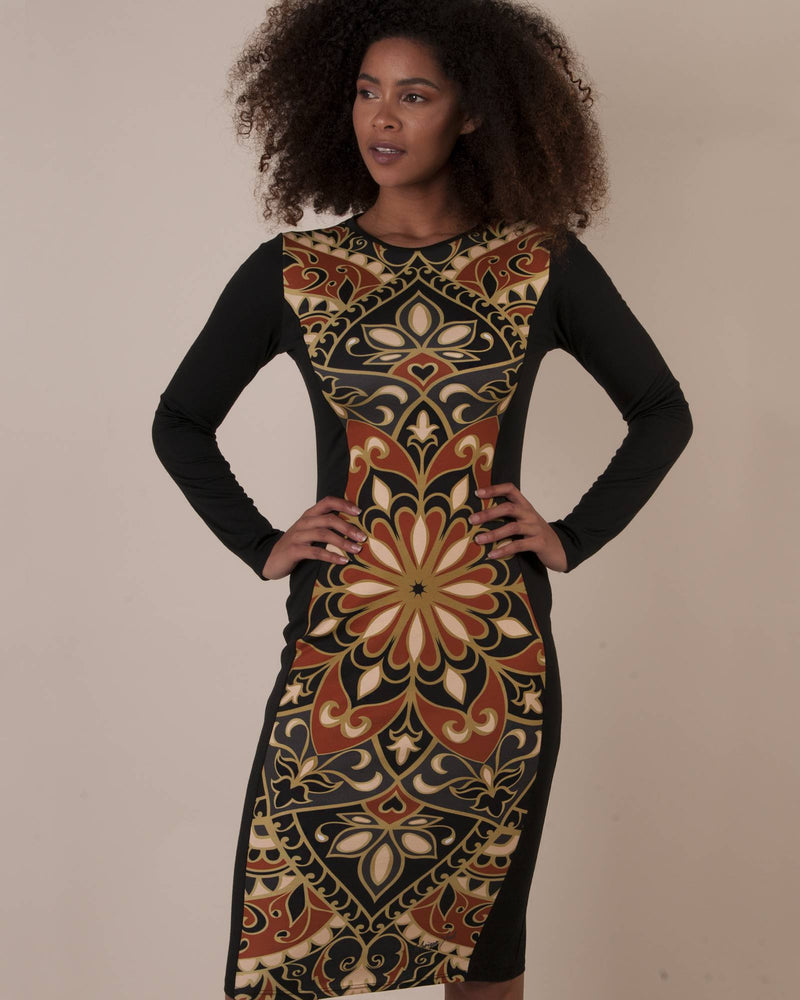 FACTORY STORE - Bodycon Dress - Ornate