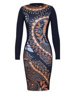 FACTORY STORE - Bodycon Dress - Oriental Paisley