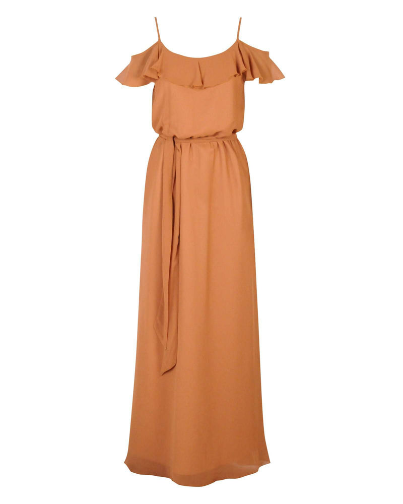 Ruffle Dress - Gold