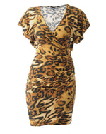Ruffle Sleeve Sophia Dress - Leopard