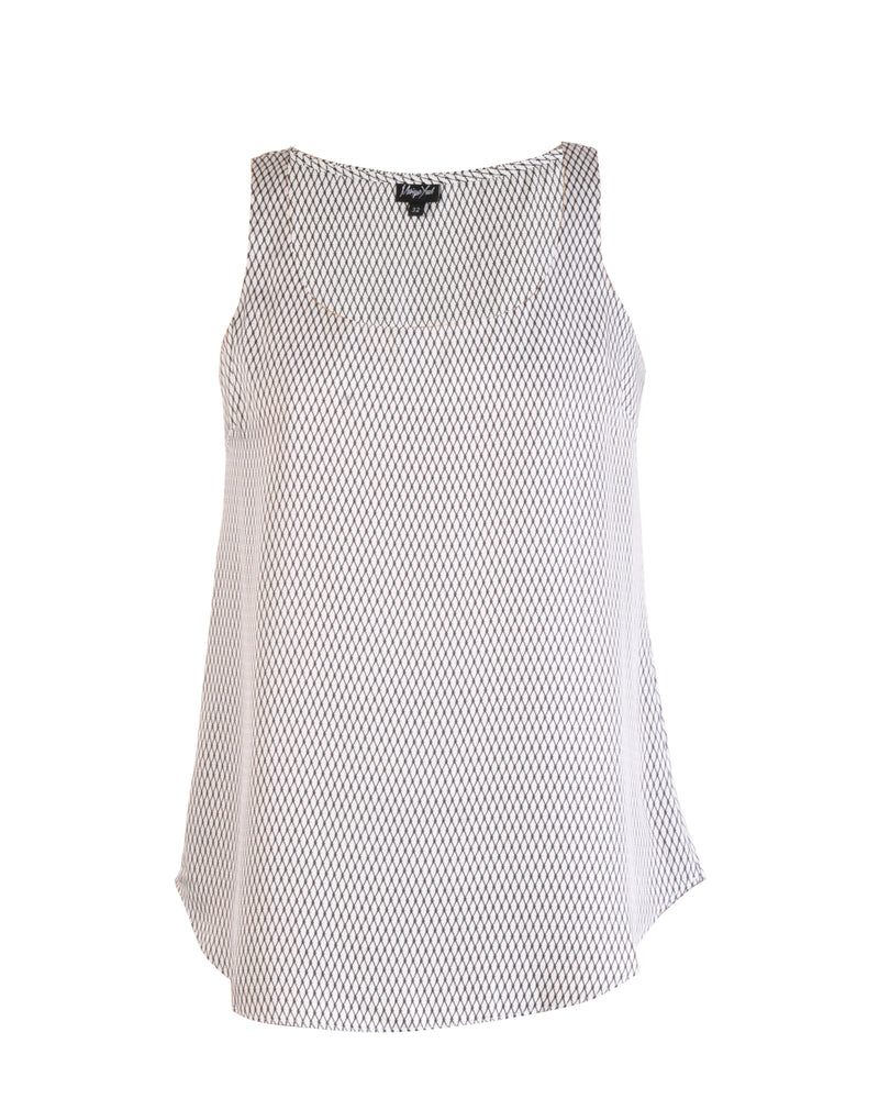 Scoop Neck Tank Top - Milk Diamond