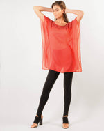 Factory Store | Sheer Yoke Top - Red