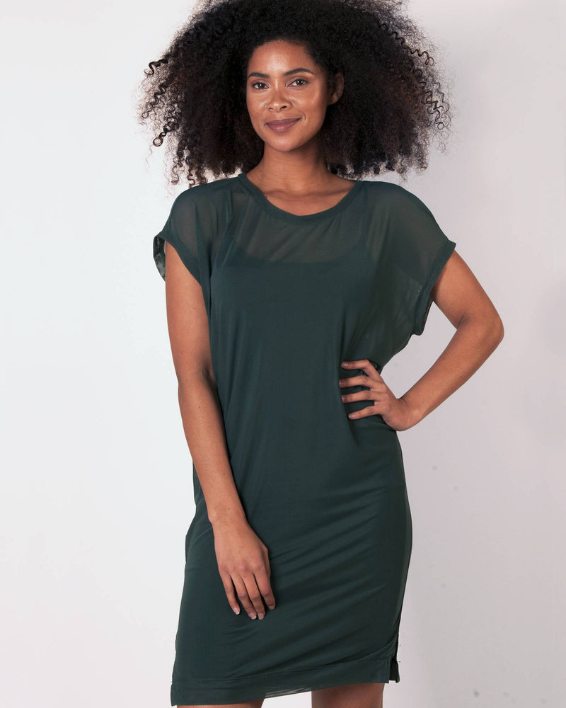 Batwing Knit Tunic 2 Piece - Green