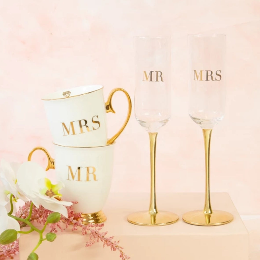 Crystal Champagne Flute Set - That Box Co