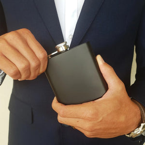 6oz Matte Black Flask - That Box Co