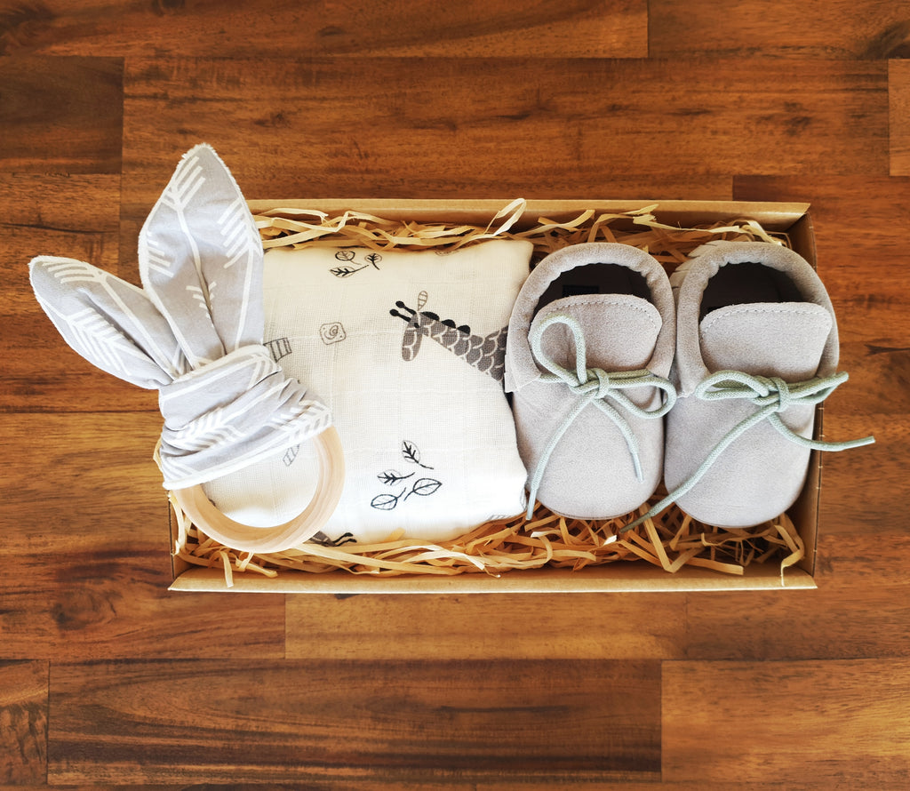 First Steps Gift Box - Grey - That Box Co