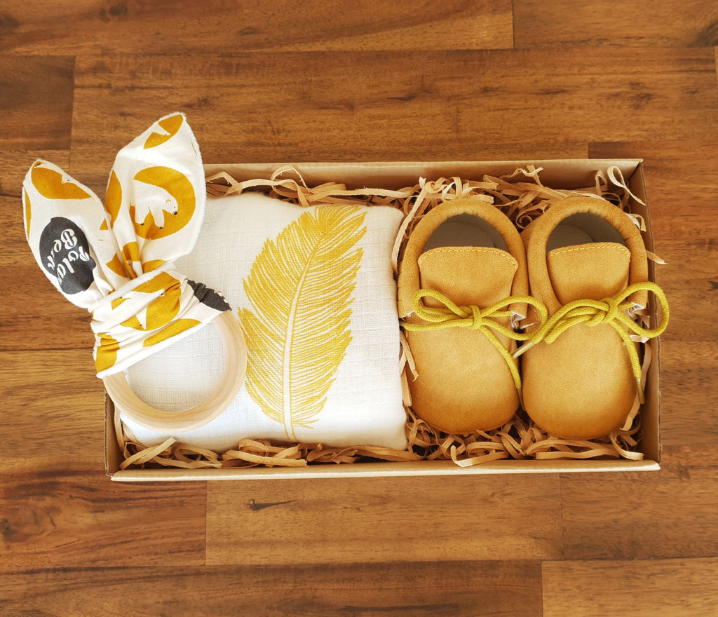First Steps Gift Box - Mustard - That Box Co