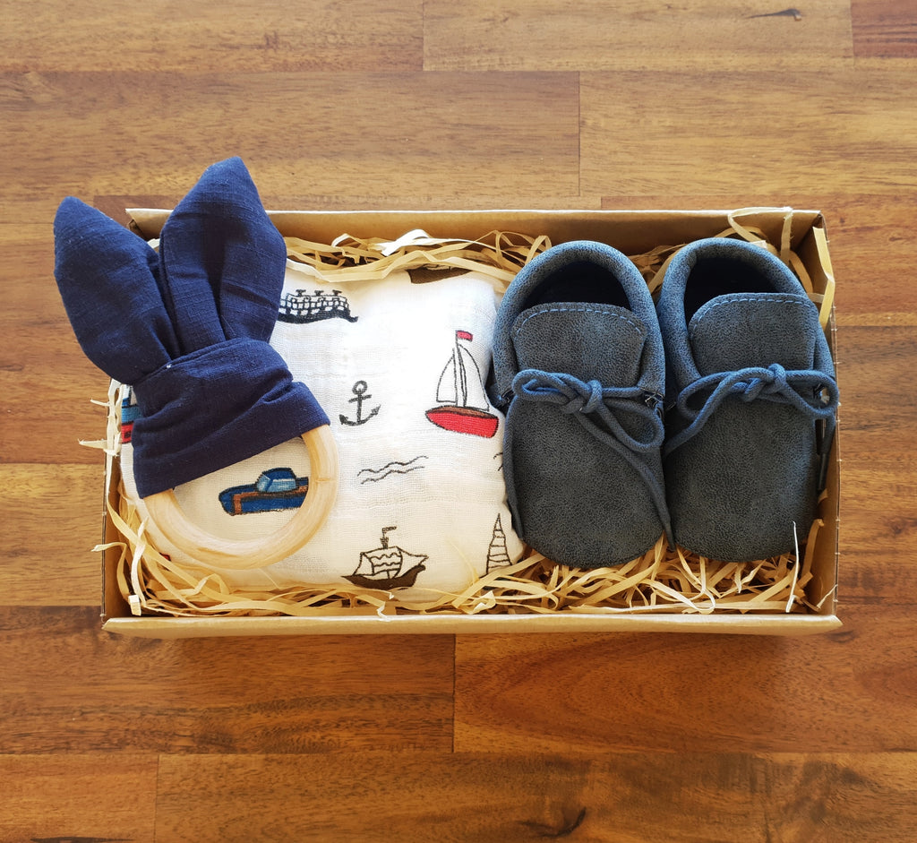 First Steps Gift Box - Blue - That Box Co