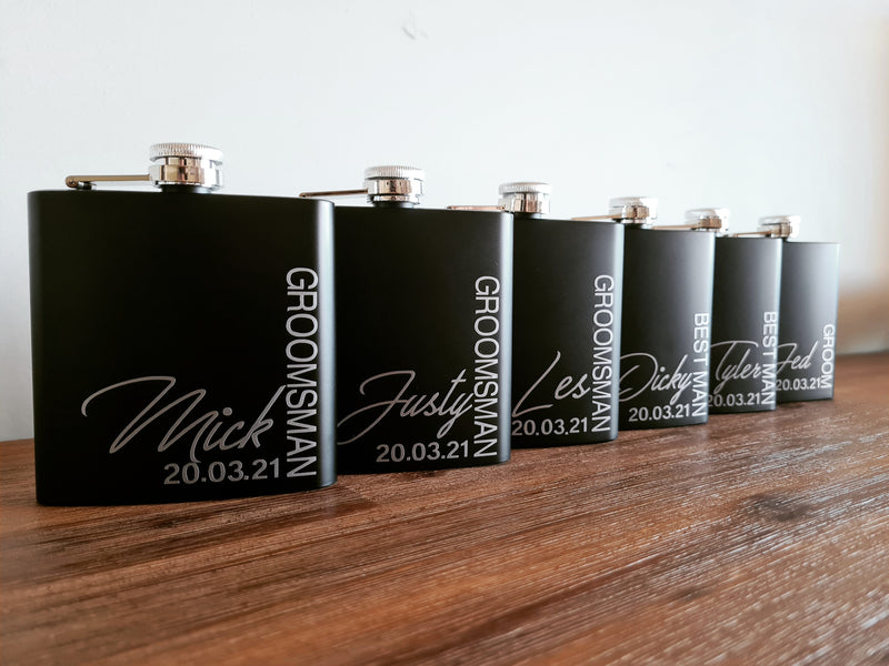 Matte Black Flask - That Box Co