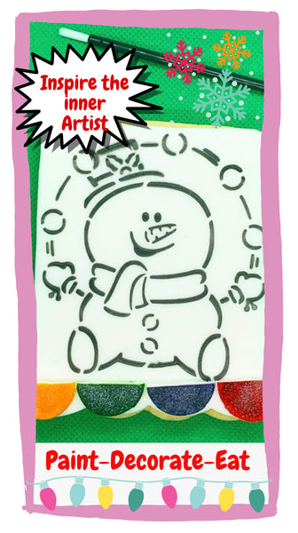 Paint Your Own x2 Cookies: Santa - Christmas Tree - Snowman