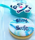 Staying Safe Biscuits & Pocketable Antibacterial Holder Gift