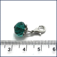 glass stitch marker with ruler