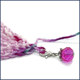 glass stitch marker with crochet