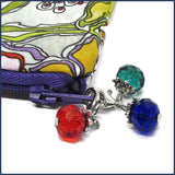 glass stitch marker with project bag