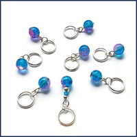 Blue Lagoon Knitting Stitch Marker Set