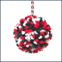 Christmas Pompom Garland & Bauble Kit